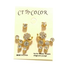 Vintage Inspired Gold Plated Poodle Earrings